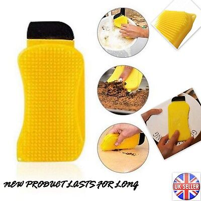 Silicone Dish Washing Scrubber Cleaning Sponge Tools Kitchen Cleaner Pad ECO