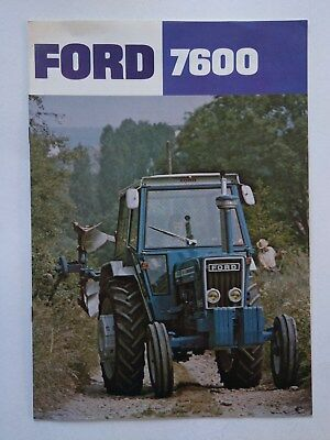 Ford 7600 tractor brochure 1976 New Holland France
