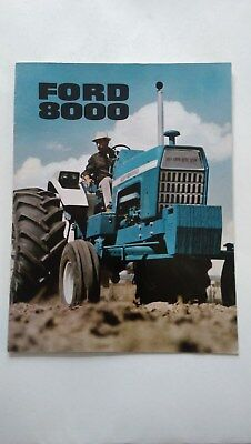 Ford 8000 tractor brochure c.1972 New Holland France