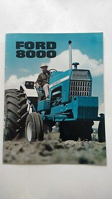 Ford 8000 tractor brochure c.1972 New Holland