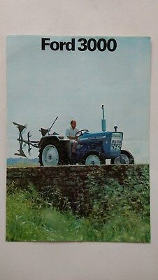 Ford 3000 tractor brochure France 1972 New Holland