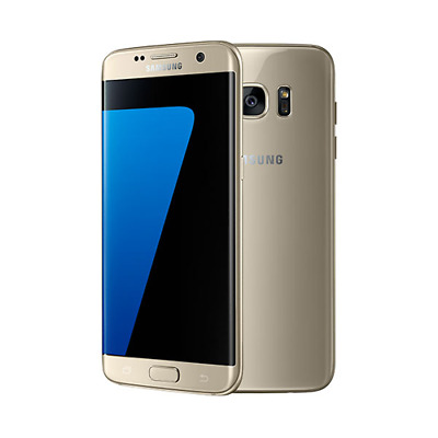 "Samsung Galaxy S7 Edge 32GB 5.5"" Android 12MP Smartphone SIM Free Unlocked Gold"
