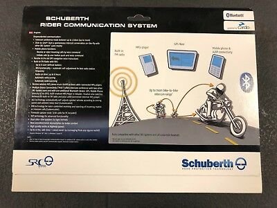 Schuberth S2 SRC Bluetooth Intercom Comms System GPS MP3 50-59 2X  Small - Large