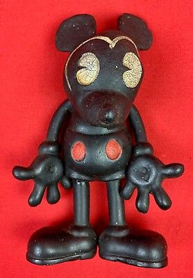 VINTAGE 1930'S DISNEY MICKEY MOUSE HARD RUBBER SEIBERLING LATEX 1930's Figurine