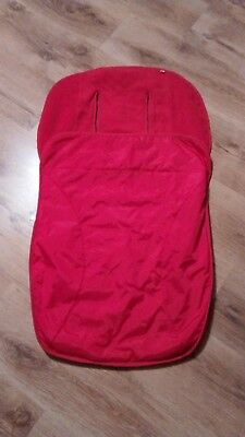 Red Mothercare cosy toes foot muff warmer