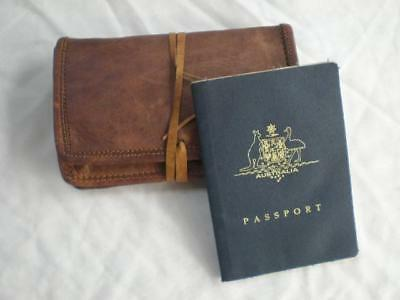Handmade Goat Leather Tobacco Pouch WTP leather string Billy Goat Designs