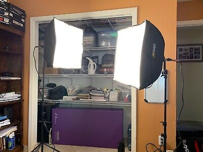 Lowel Rifa EX55 500 Watt SoftBox Light (2) with Stands