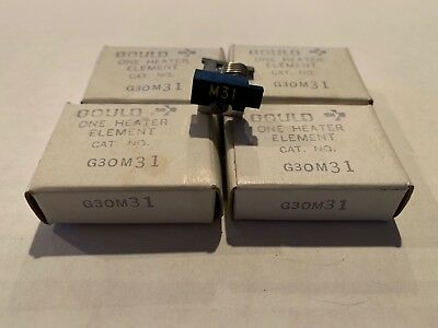 Lot Of 4 New! Gould Overload Relay Thermal Heater Elements G30M31