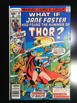 Marvel What If #10 Jane Foster Become Thor High Grade 1978