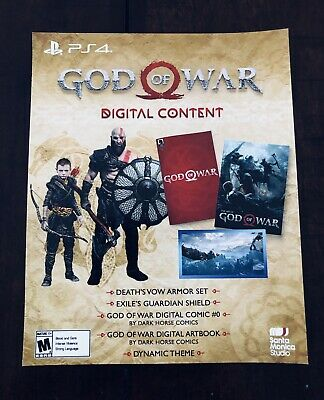NEW GOD OF War Stone Mason Collector's Edition DLC Digital Code Slip ONLY!!  PS4
