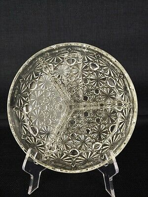Vintage ~ Very Nice ABP Brilliant Period Cut Glass Divided Relish Olive Dish