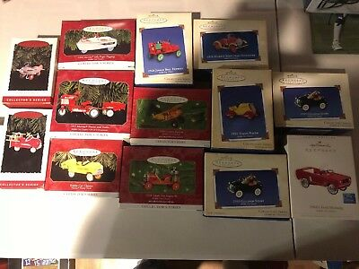 HALLMARK KEEPSAKE ORNAMENTS KIDDIE CAR CLASSICS Lot of 14