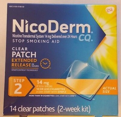 NICODERM CQ CLEAR PATCH STEP 2 - 14mg - 14 PATCHES (EXP DATE 02/2018)