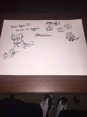 South Park Signed Storyboard Artist And Other Crew At South Park Studios Proof