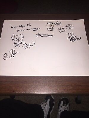 South Park Signed Storyboard Artists At South Park Studios