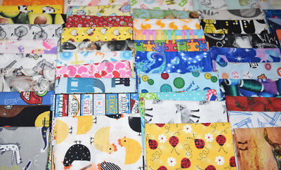 """35 x 5"""" charm squares I-Spy chidren / kids prints patchwork and quilting fabric"""