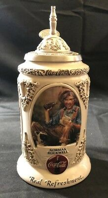 Budweiser/ Coca Cola Early illustrators Beer Stein In Box CS 491 (E35BD)