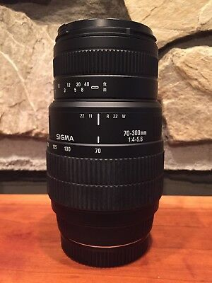 Sigma 70-300mm Auto Focus DG Macro Zoom Lens - For Canon See Pics Free Shipping