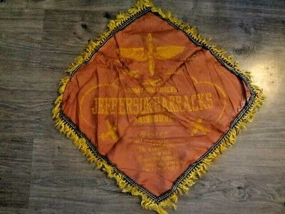Vintage WWII ARMY AIR FORCE Souvenir Pillow Cover JEFFERSON BARRACKS MO Sister