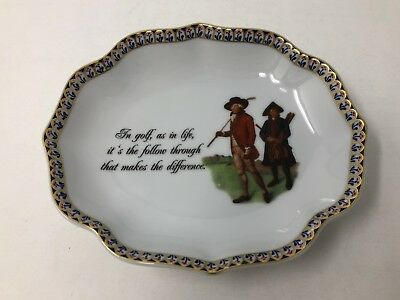 """Mottahedeh """"In Golf As In Life"""" Pin / Trinket Dish"""
