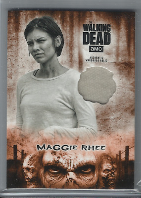 2018 Walking Dead Hunters & The Hunted Maggie Rhee Costume Relic Orange 46/99