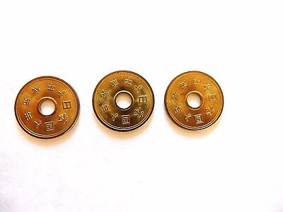 """1989 Japan Five (5) Yen Holed Coin """"One Coin Per Order"""""""