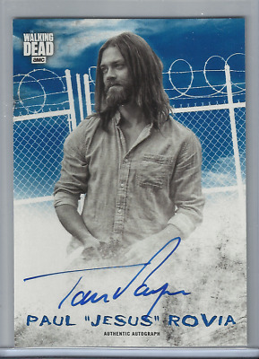 "2018 Walking Dead Hunters & Hunted Tom Payne As Paul ""jesus"" Rovia Auto 33/50"