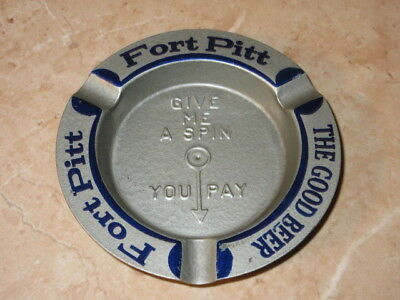 Vintage Fort Pitt Beer Advertising Spinner Ashtray Pittsburgh Pa Excellent
