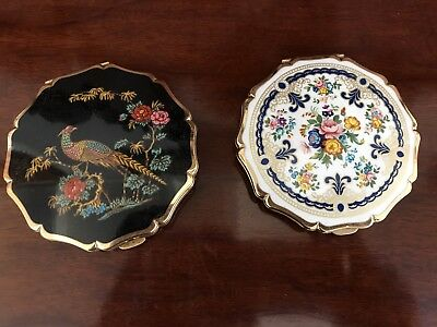 Two Beautiful Antique Stratton Compacts