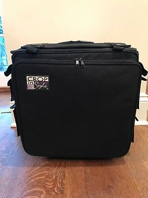 CROP IN STYLE Rolling Tote Scrapbooking Wheeled Storage Transport Portable