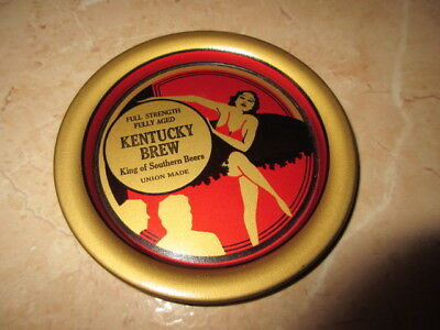 Rare Kentucky Brew Beer Brewery Advertising Art Deco Tip Tray W/ Lady