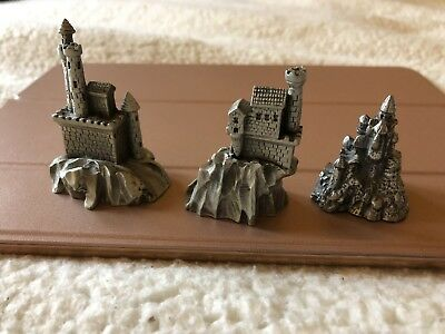 Lot of 3 Pewter Castle Hudson Fantasy - Dungeons and Dragons? 5265 & 990