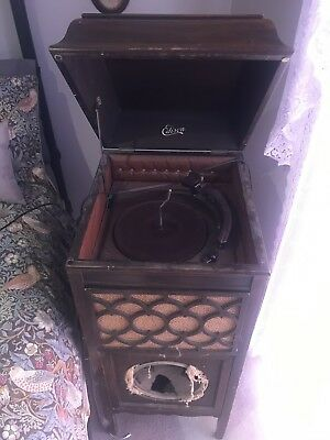 Edison Phonograph Gramophone Circa 1920 Restorers Delight. Modified For Electric
