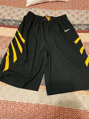West Virginia Mens Authentic Nike Basketball Shorts