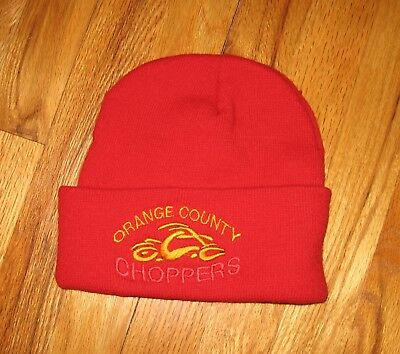 Orange County Choppers Red Knit Hat OCC Motorcycle Adult Hat