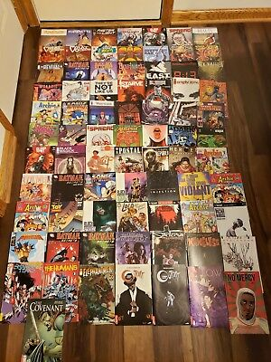 Huge Comic Book Lot - 78 Total - Image, DC, Valiant, Aspen, Titan, Top Cow