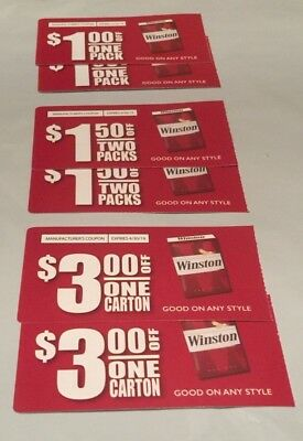 $11 off worth of ANY Winston Cigarettes Coupons expires 04/30/19