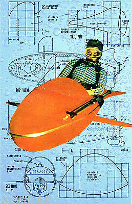 Build your own PERSONAL SUBMARINE Printed article and drawings