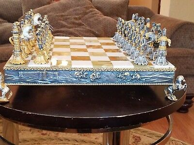 Giuseppe Varsi Chess Set, excellent condition and beautifully detailed