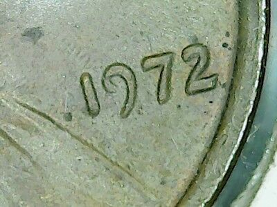 1972 Lincoln Cent Doubled Die DDO #8