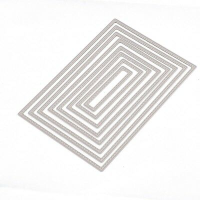 Rectangle Cutting Dies Stencil DIY Scrapbooking Embossing Album Paper Card Craft