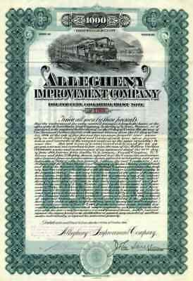 1906 Allegheny Improvement Co Bond Certificate