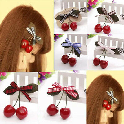 2pcs Hair Pin Baby Child Girl Hot Hairpin Cherry Hair Accessories Clips New