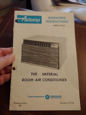 Vintage Airtemp Imperial Room Air Conditioner Operating Instructions