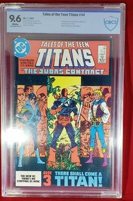 Tales of the Teen Titans 44 CBCS 9.6 First  app Nightwing! Deathstroke Origin!