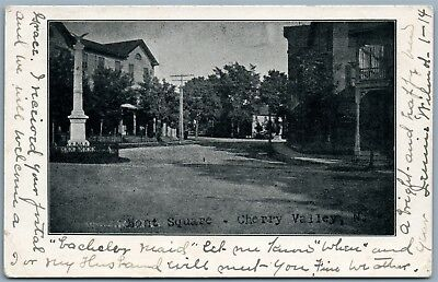 Cherry Valley Ny 1907 Undivided Antique Postcard