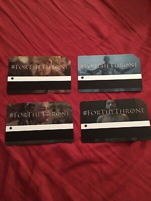 GAME OF THRONES LIMITED EDITION Metro Cards Full Set Of 4
