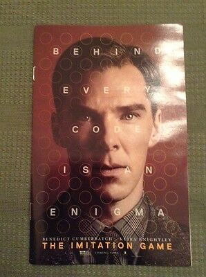 The Imitation Game Authentic Movie Promo Booklet With Crosswords & Cast Pics NEW
