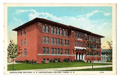Fargo North Dakota Postcard Agriculture Building N.D.Agricultural College #75214