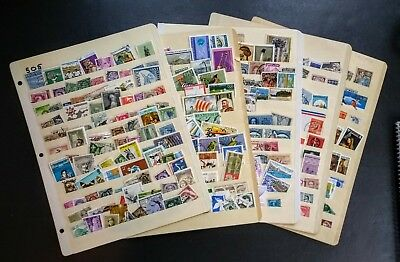 Stock cards w/Stamps * Worldwide Stamp Collection on 5 Stock pages Great MIX